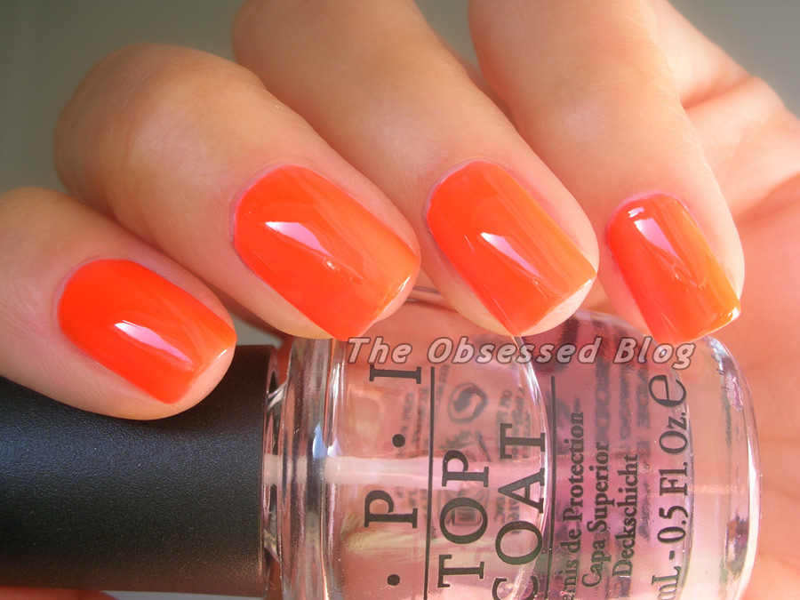 Neon Orange Nail Polish Opi