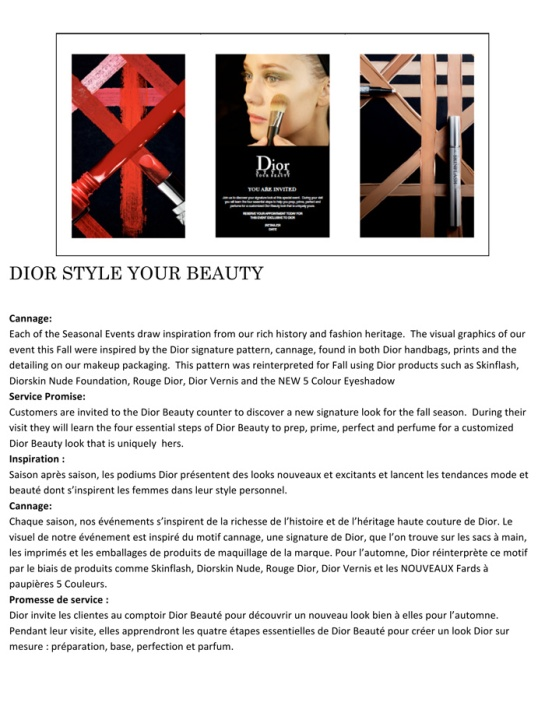 DIOR STYLE YOUR BEAUTY