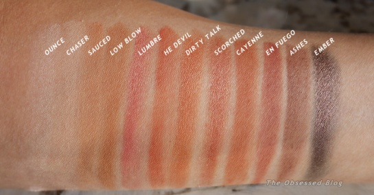 UD Naked Heat Swatches shade