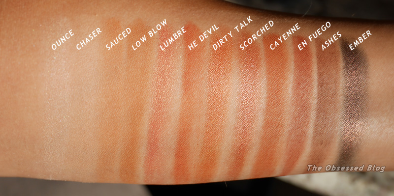 UD Naked Heat Swatches sun